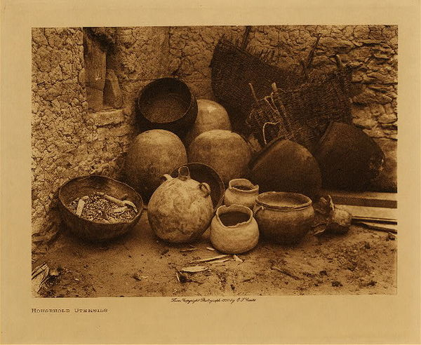 Edward S. Curtis - Household Utensils border=