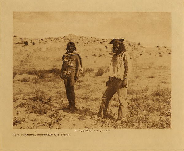 Edward S. Curtis - Hopi Farmers, Yesterday and Today border=