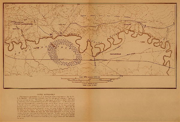 Edward S. Curtis - Custer Battlefield - Map border=