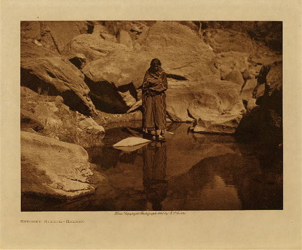 Edward S. Curtis - Nature's Mirror - Navaho border=