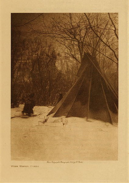 Edward S. Curtis - When Winter Comes border=