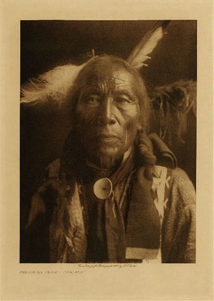 Edward S. Curtis - Struck by Crow - Ogalala border=