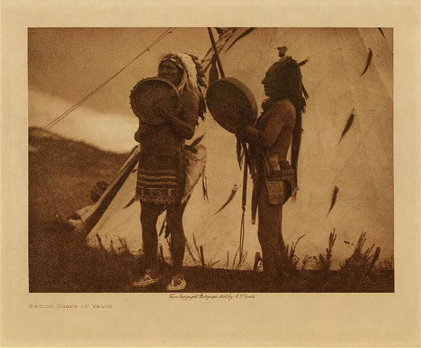 Edward S. Curtis - Singing Deeds of Valor border=