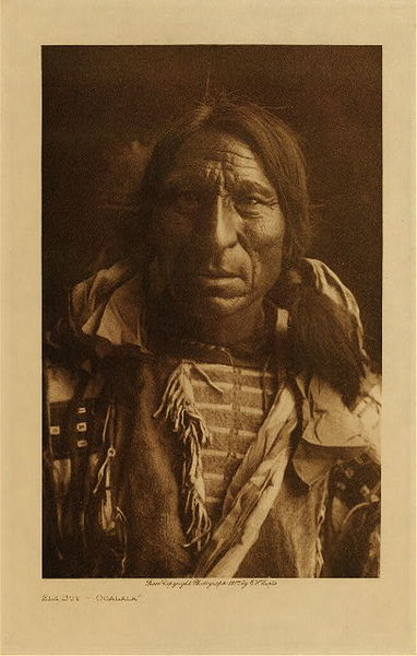Edward S. Curtis - Elk Boy - Ogalala border=