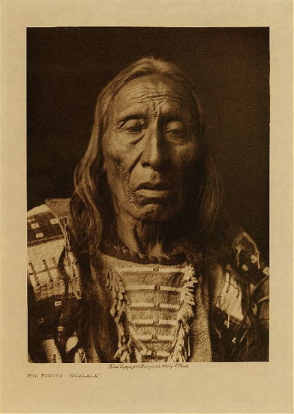 Edward S. Curtis - His Fights - Ogalala border=