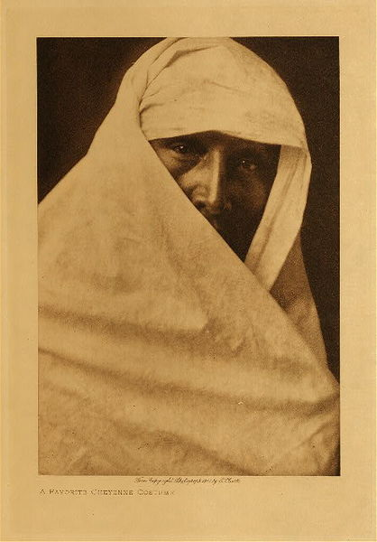 Edward S. Curtis - A Favorite Cheyenne Costume border=