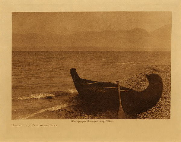Edward S. Curtis - Evening on Flathead Lake border=