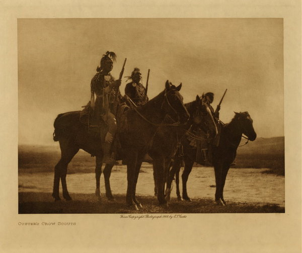 Edward S. Curtis - Custer's Crow Scouts border=