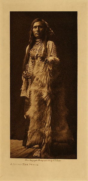 Edward S. Curtis - A Young Nez Perce border=