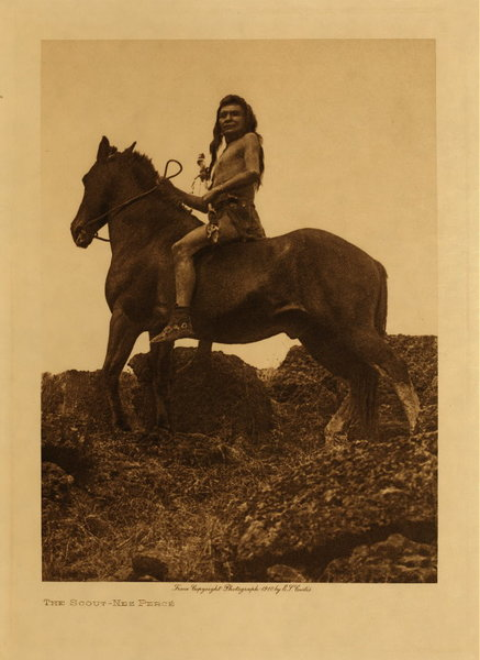 Edward S. Curtis - The Scout - Nez Perce border=