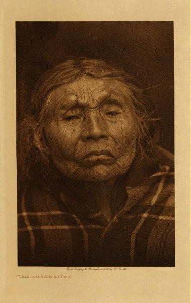 Edward S. Curtis - Chinook Female Type border=