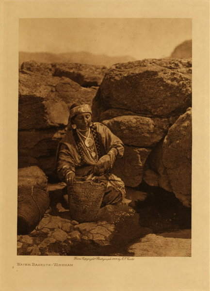 Edward S. Curtis - Water Baskets - Wishham border=