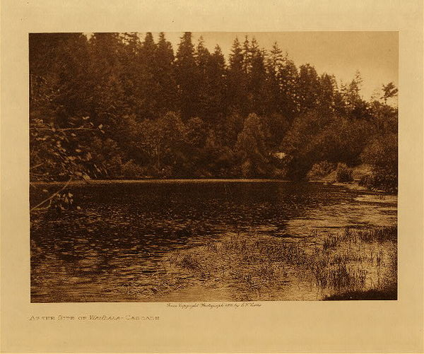 Edward S. Curtis - At the Site of Wahala - Cascade border=