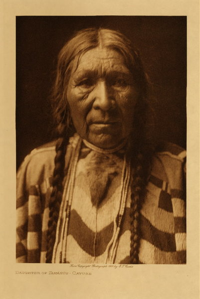 Edward S. Curtis - Daughter of Tamahus - Cayuse border=