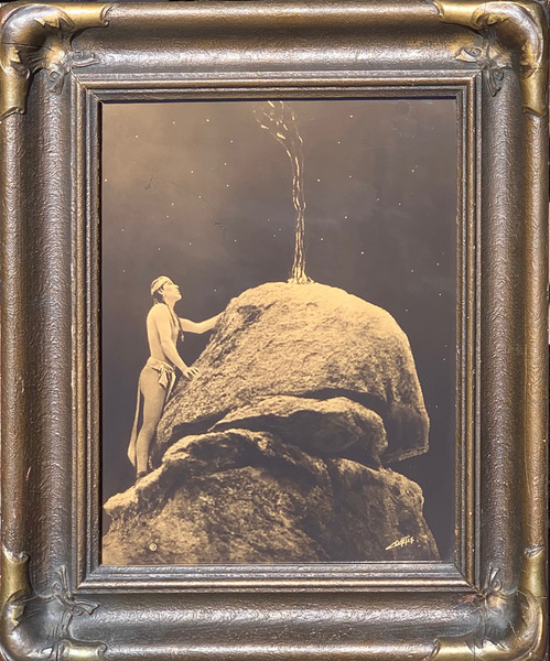 Edward S. Curtis -      Signal Fire to the Mountain Gods border=