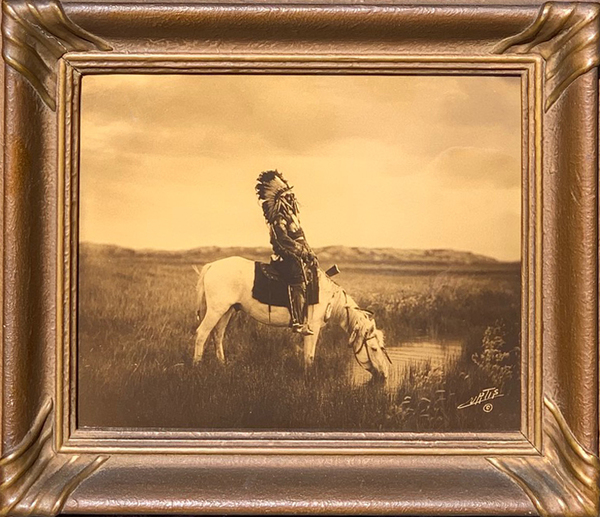 Edward S. Curtis -     An Oasis in the Badlands border=