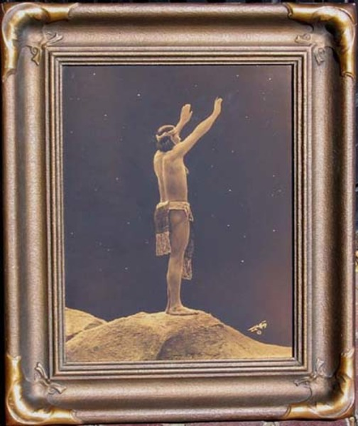 Edward S. Curtis - Prayer to the Stars border=
