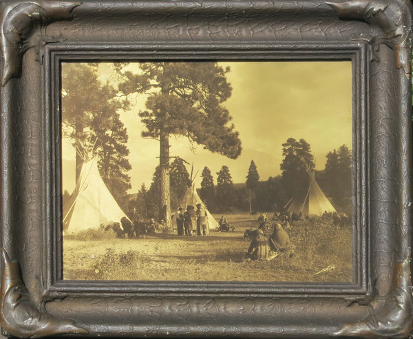 Edward S. Curtis - Flathead Camp on the Jocko border=