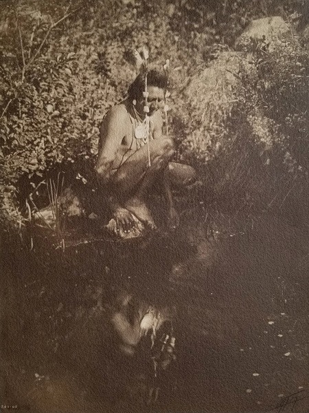 Edward S. Curtis - Unpublished Apsaroke Crow Warrior border=