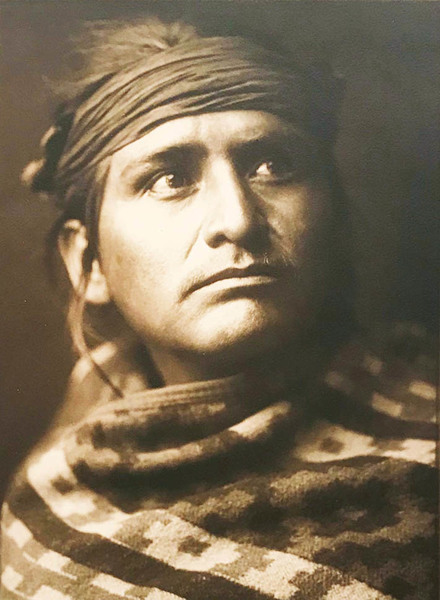 Edward S. Curtis - Chief of the Desert - Navaho border=