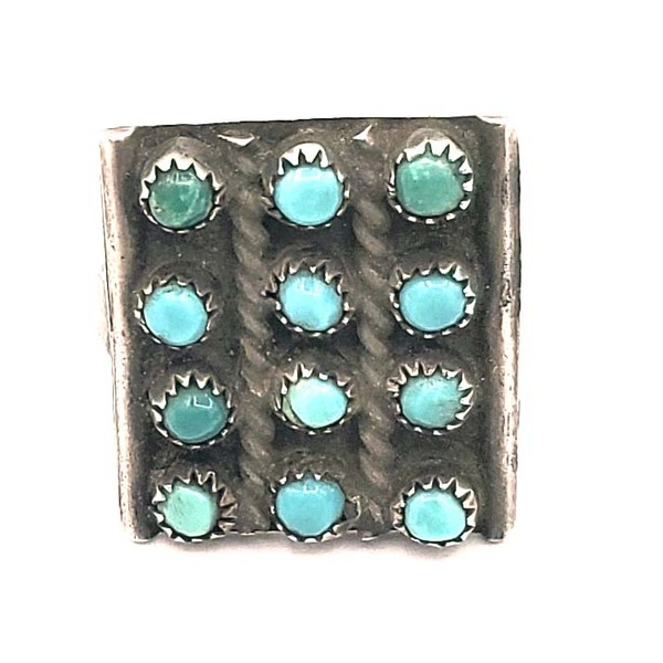 Old Pawn Jewelry - Ring: Vintage 12 Stone Zuni Row Cluster border=