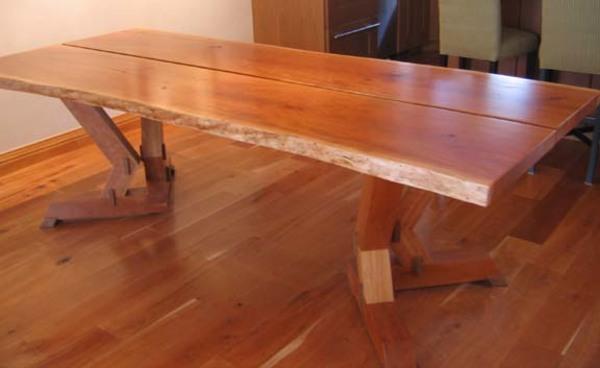 live edge cherry dining table | pete hajdu | valley fine art Cherry Dining Table