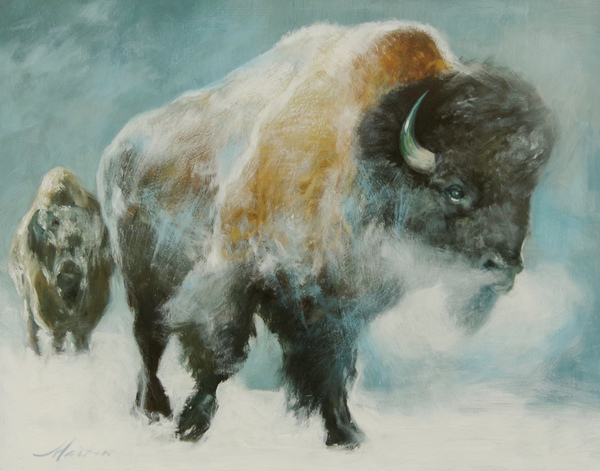 William Oliver Martin - Buffalo Winter border=
