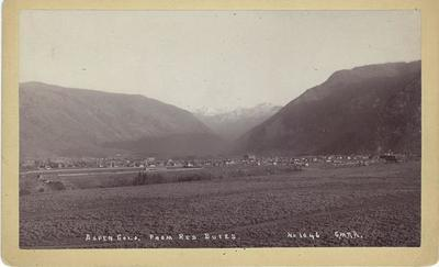 Title: Aspen, Colorado from Red Butte , Date: 1890 , Size: 5 x 8 inches , Medium: Vintage Boudoir Card , Edition: Vintage