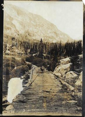 Title: Castle Creek Bridge , Date: c. 1904 , Size: 7 x 5 inches , Medium: Silver Gelatin Photograph , Edition: Vintage