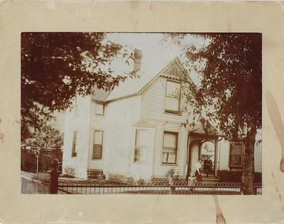 Title: 530 W. Hallam Home , Date: c. 1890 , Size: 4 3/4 x 7 inches , Medium: Albumen Photograph , Edition: Vintage