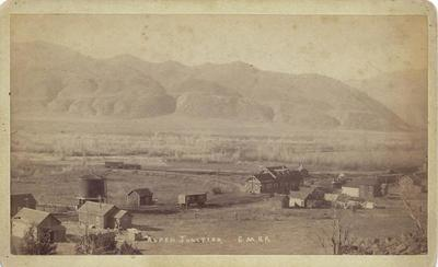 Title: Aspen Junction, Colorado (Basalt) , Date: c. 1890 , Size: 5 x 8 inches , Medium: Vintage Boudoir Card , Edition: Vintage