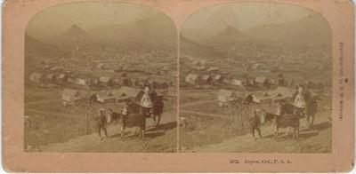 Title: Aspen, Colorado , Date: 1890 , Size: 3 1/2 x 7 inches , Medium: Vintage Stereoview , Edition: Vintage