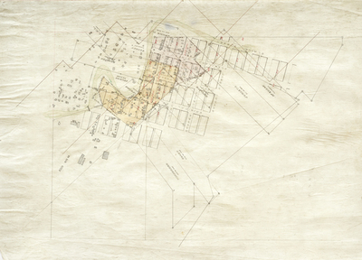Title:      Aspen Townsite Map , Date: c. 1890's , Size: 19 3/4 x 27 1/4 inches , Medium: Original Drawing on Linen , Edition: Unique