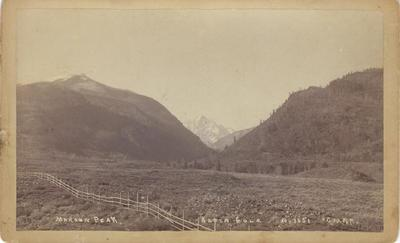 Title: Maroon Peak - Aspen, Colorado , Date: 1890 , Size: 5 x 8 inches , Medium: Vinatge Boudoir Card , Edition: Vintage