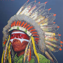 Title: Seer , Size: 46 x 46 inches , Medium: Acrylic on Board , Signed: Signed , Edition: Original