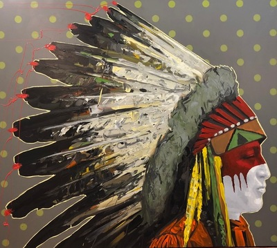 Title:  Peace Keeper , Size: 48 x 54 inches , Medium: Acrylic on Board , Edition: Original