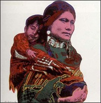Title: Mother and Child , Date: 1986 , Size: 36 x 36 inches , Medium: Screenprint on Lenox Museum Board , Edition: HC of 15