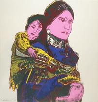 Title: Mother and Child , Date: 1986 , Size: 36 x 36 inches , Medium: Screenprint , Signed: Signed , Edition: TP: 17/36