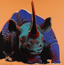 Title: Black Rhinoceros , Date: 1983 , Size: 38 x 38 inches , Medium: Screenprint , Signed: Signed , Edition: AP 7/30