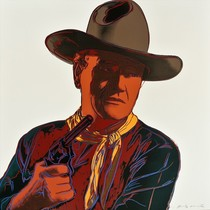 Title: John Wayne , Date: 1986 , Size: 36 x 36 inches , Medium: Screenprint , Signed: L/R , Edition: Unique of 250