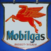 Title: Mobilgas , Date: 1985 , Size: 38 x 38 inches , Medium: Screenprint , Signed: Signed , Edition: Edition of 190