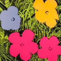 Title: Flowers, II.73 , Date: 1970 , Size: 36 x 36 inches , Medium: Screenprint , Signed: Signed , Edition: of 250
