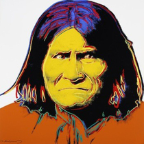 Title: Geronimo , Size: 36 x 36 inches , Medium: Screenprint , Signed: Signed , Edition: PP of 15