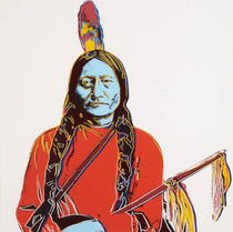 Title: Sitting Bull , Date: 1986 , Size: 36 x 36 inches , Medium: Screenprint