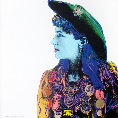 Title: Annie Oakley , Date: 1986 , Size: 36 x 36 inches , Medium: Screenprint , Signed: L/L , Edition: of 250