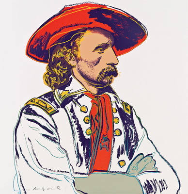 Title: General Custer , Date: 1986 , Size: 36 x 36 inches , Medium: Screenprint , Signed: Signed , Edition: 151 of 250