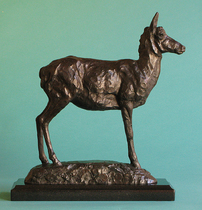 Title: Looking For Mr. Right , Size: 14 x 4 x 13 inches , Medium: Bronze , Signed: Signed , Edition: 6/35