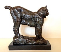 Title: Colorado Lynx , Size: 10 x 10 x 2 1/2 inches , Medium: Bronze , Signed: Signed , Edition: 3/35