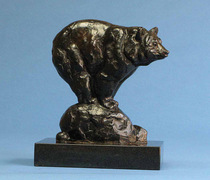 Title: Balancing Act , Size: 7 3/4 X 4 1/4 X 6 3/4 inches , Medium: Bronze , Signed: Signed , Edition: 26/50