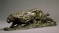 Title: Under Cover (Cougar) , Size: 10 x 9 x 31 inches , Medium: Bronze , Signed: Signed , Edition: 9/35